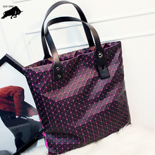 Fashion Sequins Plain Folding Bao Bao Bag Women Tote Fold Baobao Hand Bag Laser Geometric Designer Handbags High Quality