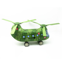 Free Shipping Antique wind up toys tin Airplane models for children metal plane models for collection MS479 helicopter(China)