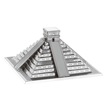 The world famous buildings,3D,DIY,Metal,silver,realistic,Maya Pyramid,famous,model Kids Puzzle,Intelligent Educational Toys(China)