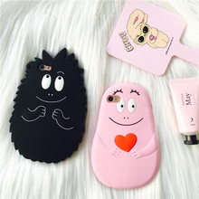 3D Les Barbapapa Silicone Case for iPhone X 8 7 7plus 6 6s 6plus 5 5s SE Fashion Lady Cartoon Movie Phone Case Cover