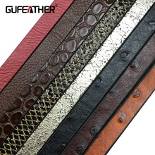 GUFEATHER P02/10MM jewelry findings/jewelry materials/jewelry making/leather cord 10mm Suitable for production of fine choker