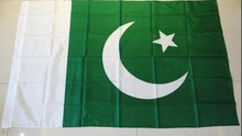 Pakistan flag hoist flag free shipping 90 * 150 quality polyester celebration activities Shelf