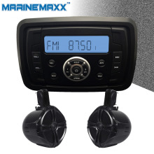 "IP66 Waterproof Marine Stereo FM MP3 Player + 1Pair 6.5"" Marine WakeBoard Tower Speakers Totaling 500W Boat Off-Road ATV UTV RZR"