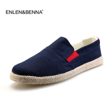 2017 men casual shoes flats man spring Summer Loafers England Fisherman Espadrilles Boat Shoes mens lazy hemp rope Canvas shoes(China)