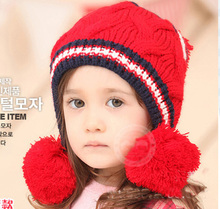 New Baby Boy Girl Winter Fur Ball Bonnet Infant Ear Protector Cute Hat Cap(China)