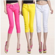 summer cotton 2017 new candy color 12 color pant was thin plus size ladies girls fashion casual pants pencil pants bottoming