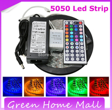 LED Strip RGB 5050 With Power Adapter+44Keys Controller RGB Non-waterproof 300Leds IP22 RGB LED Rope Light