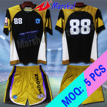 New Style Cheapest  Grade Original Sublimation Customized Soccer Uniform Set