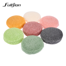 Fulljion 7Colors Natural Konjac Makeup Sponge Blending Pink Cosmetic Puff Face Cleanse Washing Facial Care Cleanser Beauty Tools(China)