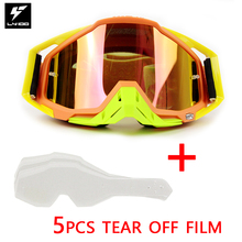Best Selling 100% Brand Racecraft Motorcycle Glasses Motocross Goggle ATV Racing Lunette Bike Gafas Tear off films for choose(China)