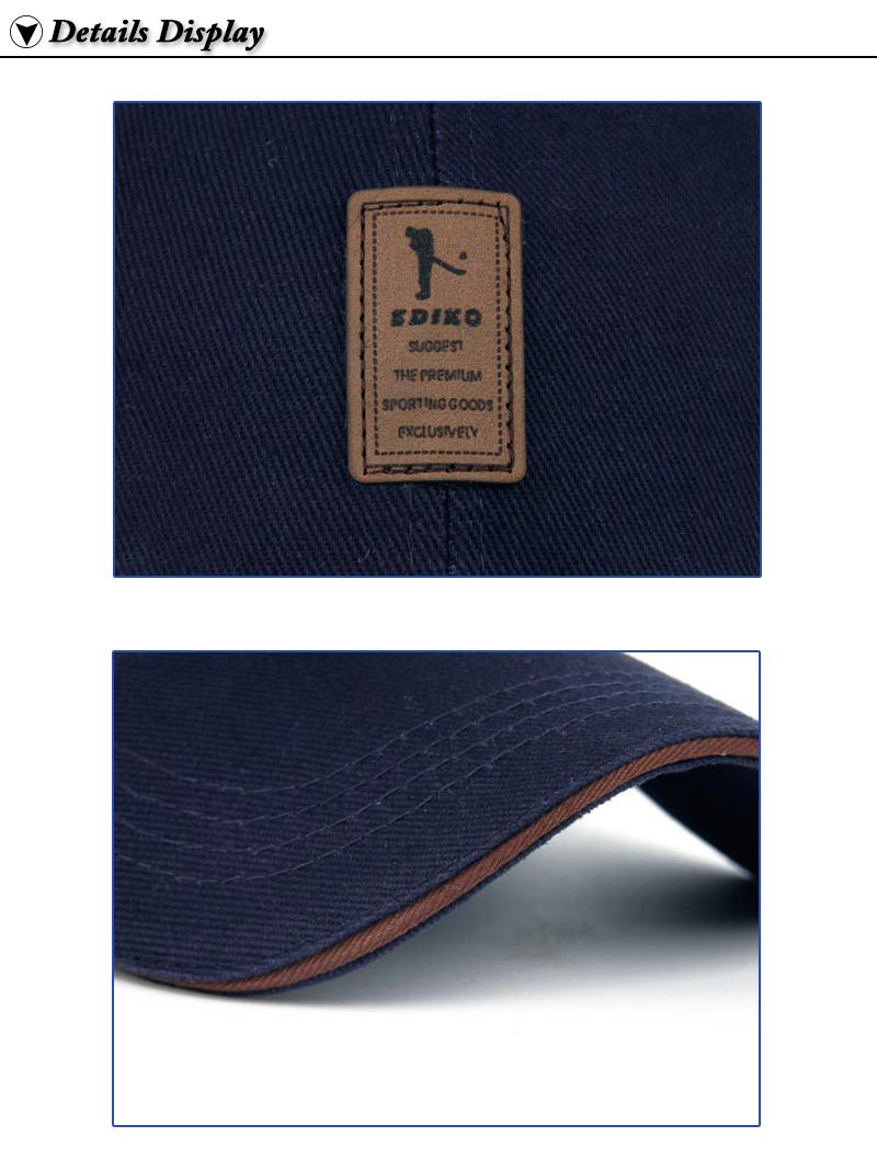 Golfer Emblem Baseball Cap - Logo and Brim Close-up Details