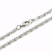 "3/4/5/MM 20""/22""/24"" MENS Silver Stainless Steel Chain Necklace Jewelry Unique"