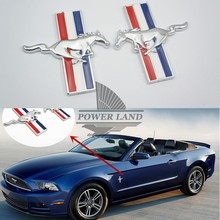 Car Styling 3D ABS Running Horse Logo Badge Emblem Side Body Sticker Auto Decal Universal Fit for Ford Mustang Shelby 8x7.6cm