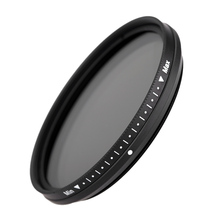 FOTGA 58mm Variable Fader ND Lens Filter ND2 to ND400 ND100 ND32 ND16 ND8 ND4 Neutral Density