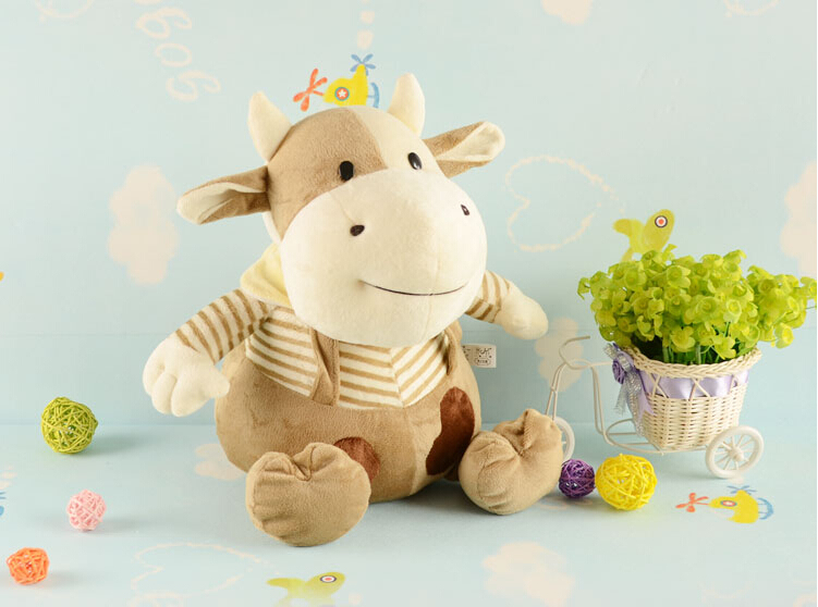 30cm plush toy doll dolls cute Zodiac ox/cows/child creative doll gift Christmas gifts/choliday gifts<br><br>Aliexpress