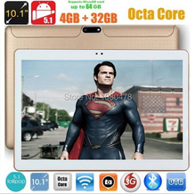DHL Free 10 inch 4G Tablet PC Octa Core 4GB RAM 32GB ROM Android 5.1 IPS GPS 5.0MP WCDMA 3G Tablet PC 10 inch+gifts
