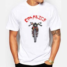 Hot Topic Men Newest 2018 Fashion Motorcycle theme personality Breakers Repairs T-shirt men(China)
