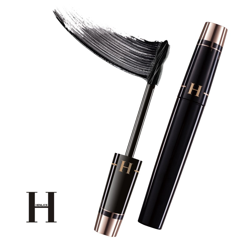 HENLICS Multi-functional 3D Mascara Waterproof Liquid Fiber Long Black Eyelashes Makeup Curling Mascara Lash Extension Mascara (18)