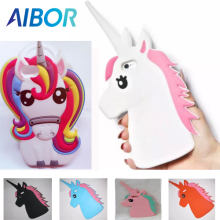 New 3D Cartoon Rainbow Unicorn Horse Soft Silicone Phone Case For iPhone 4G 4S SE 5G 5S 5C 6 6S 7 7S Plus White Horse Case Cover