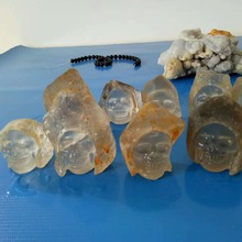 60mm high quality natural quartz crystal carving, Crystal Skull healing Feng Shui wholesale price