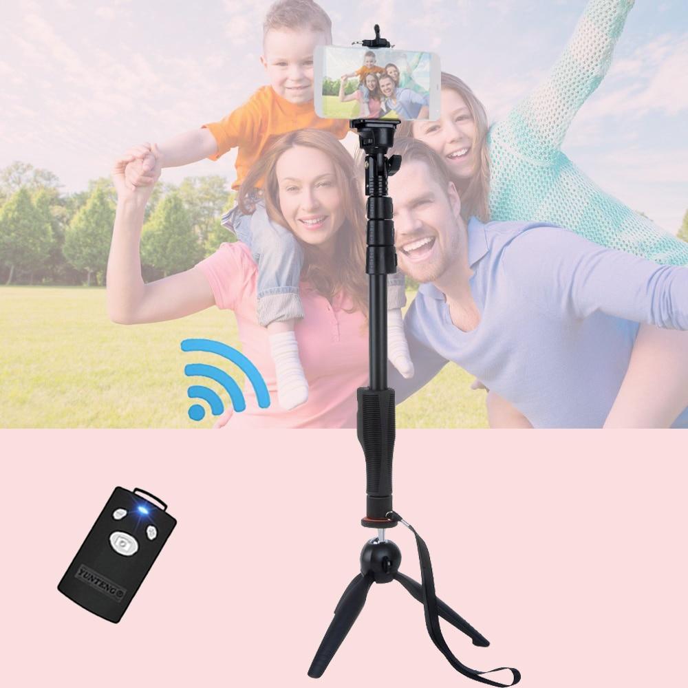 For GOPRO DSLR Camera IOS Android Smart Phone Yunteng 1288 Bluetooth Extendable Selfie Stick Monopod &amp; Yunteng 228 Mini Tripod<br><br>Aliexpress