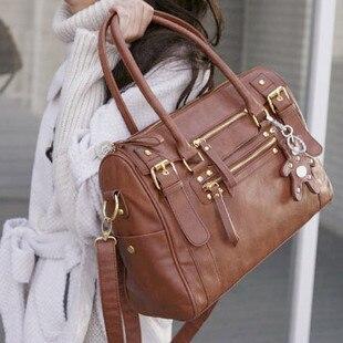 2014 womens handbag vintage belt bear female shoulder bag messenger bag casual bag Female bags HOT free shipping<br><br>Aliexpress