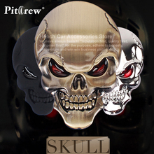 Free Shipping Hot Selling 3D Skull Car Sticker  Metal Auto Car Moto Motorcycle  sticker Decal Sticker Car Styling For All Car