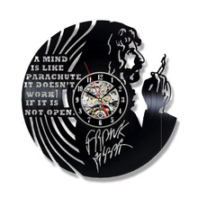 Frank ZappaVintage Vinyl Record Wall Clock Modern Handmade Art for Fans Creative 3D Hollow Hanging Watch(China)