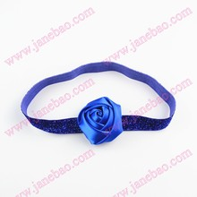 free shipping 120pcs Rose flower headbands toddles headband Rolled Rose On glitter Headbands(China)
