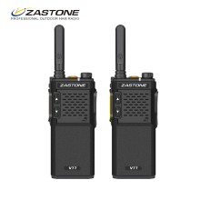 Zastone 2pcs V77 Walkie Talkie Two Way Radio Amateur Ham Radio UHF 400-470MHz 16 channels walkie-talkie for Hotel hunting travel