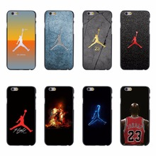 Luxury Air Jordan 23 NBA Phone Case Cover Shell For Apple iPhone 5 5s SE 6 6s 7 Plus Hard PC Transparent Crysta Clear Case Cover(China)