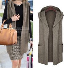 Large Size Autumn Winter Women Cardigans Sweaters 2017 New Casual Loose Hooded Sweater Vest Coat Plus Size Sweaters Coat XL-5XL