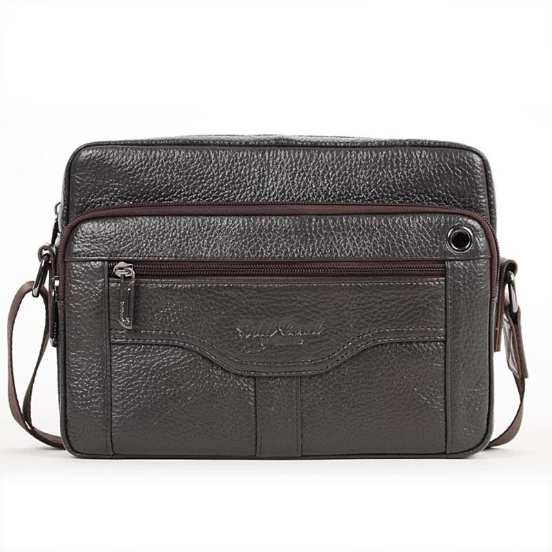 2015 New HOT brand business genuine leather mens messenger bag casual travel shoulder bag for men fashion man chest bag<br>