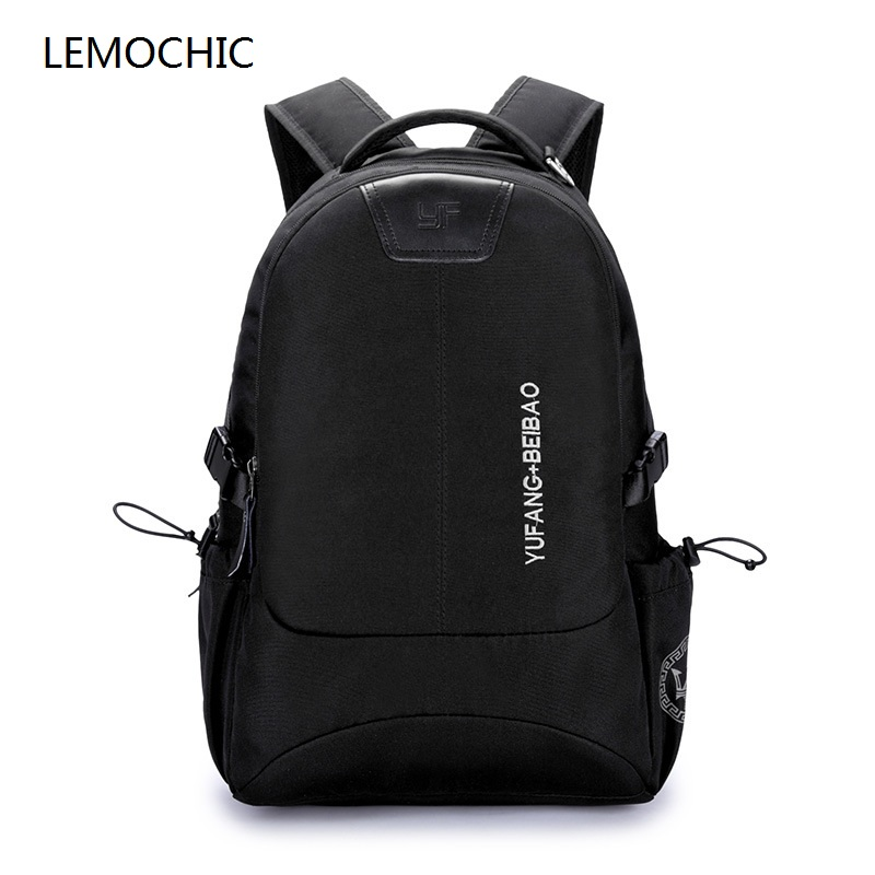 LEMOCHIC newest style solid casual travel large notebook bags simple oxford waterproof computer bags crossbody shoulder men bags<br>