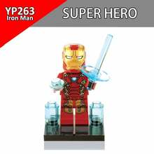 Single Sale Batman Iron Man Superheros Building Blocks DC Early Learning DIY Toy Brick Action Model Gifts For Children YP263