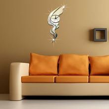 Modern DIY Abstract art wall clock Sticker 3D S-Shaped Creative Wall Watch For Home Office Decoration relogio de parede