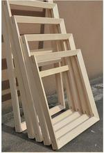 New fahsion high quality wood painting frame different size customized frame for canvas paintings wholesale price)(China)