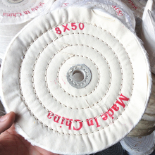 8'' 200mm White Sawing Cloth Polishing Wheel for Various Glazing Machine to Buffing Metals & Grinding Crystal 50 Ply Covers