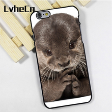 LvheCn phone case cover fit for iPhone 4 4s 5 5s 5c SE 6 6s 7 8 plus X ipod touch 4 5 6 back skins Baby Otter Cute Wild Nature(China)