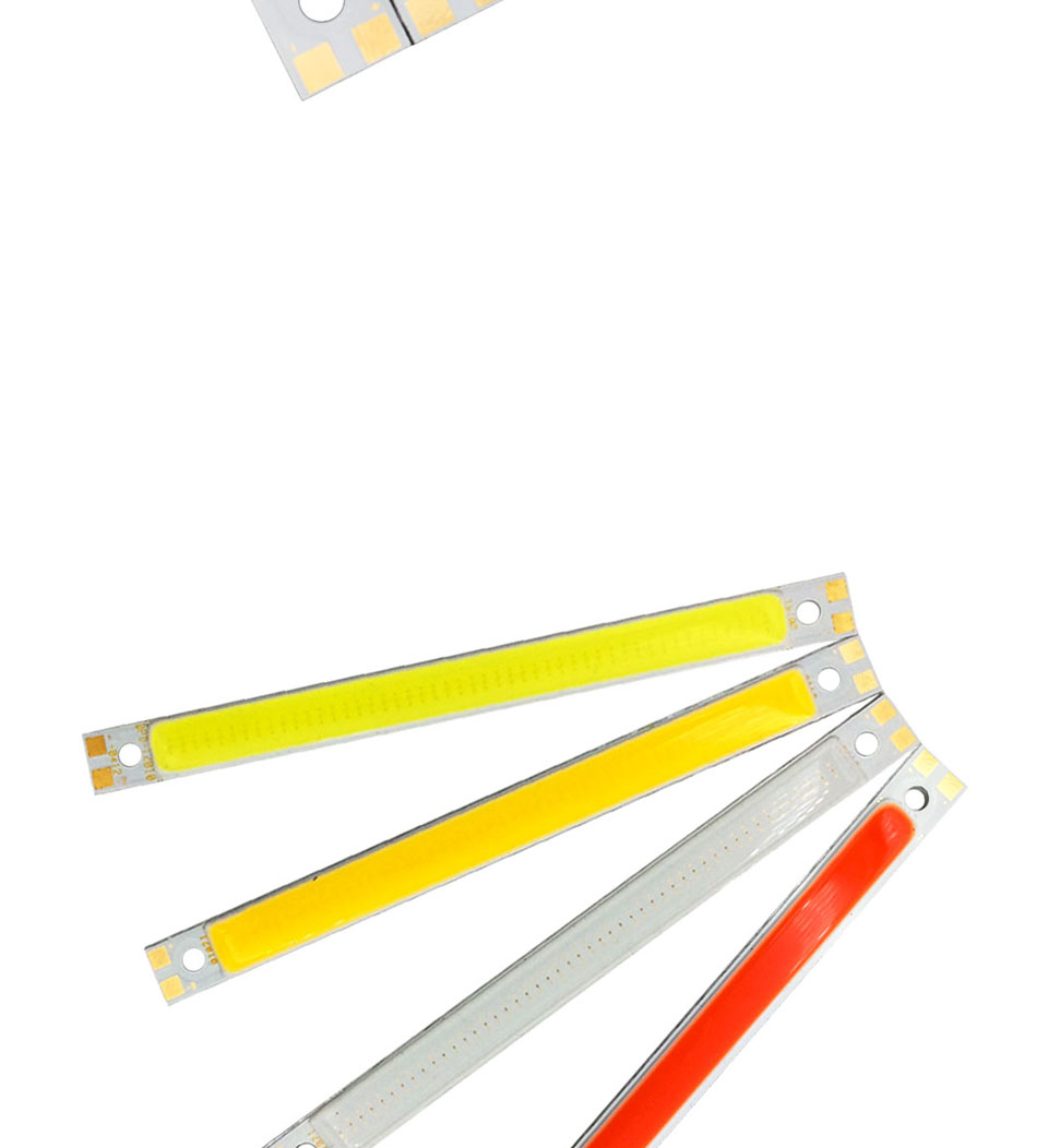 120mm 4.72in LED Bar Light Strip COB Bulb 12V 7W 10W LED Lamp Green Blue Red White Emitting Colors 12010mm COB Chip (4)