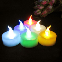 Electronic Lights Flickering Flameless LED Light Flicker Tea Candle Light For Xmas Party Wedding Candles Home Decoration