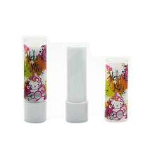 100pcs/lot New arrival 5g empty  lip balm tubes diy lipstick tube .Hello kitty  Mini small sample cosmetic packing