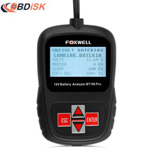 FOXWELL BT100 12V Car Battery Tester for Flooded, AGM, GEL Automotive Battery Analyzer Russian Italian Turkish Free Shipping(China)