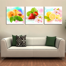3 Piece Large Flower Canvas Painting Floral And Fruit Wall Art Picture Printed For Home Decor Bedroom Living Room Walls No Frame