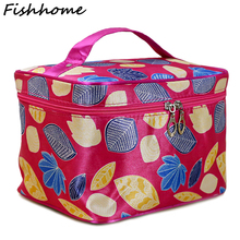 Maple Leaf Big Cosmetic Bag Women Waterproof Professional Toiletry Kit Wash Necessaire Travel Organizer Make up Bags SZL65