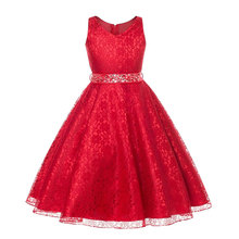 vestidos 2017 Summer Dress Children's Clothing Party Princess Baby Girls Clothing Lace Wedding Dresses Prom Dress Teen Costume(China)