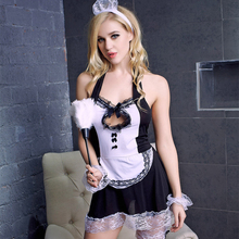 Buy Leechee Y062 Sexy lingerie erotic underwear large size transparent maid servant uniform temptation pajamas suit porn costumes