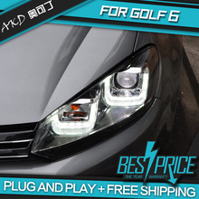 AKD Car Styling Head Lamp for VW GOLF 6 GOLF6 Headlights LED Headlight DRL Daytime Running Light Bi-Xenon Lens HID Accessories