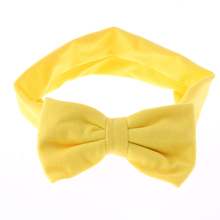 1 x Kawaii Girls Kids Lovely Soft Cotton Bow Hairband Headband Stretch Turban Knot Head Wrap Hair Band Accessories