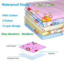Baby Changing Table Urine Mat Waterproof Diapers for Newborn Soft Baby Underpad Cotton Mattress Baby Change Diapers Crawling Mat(China)